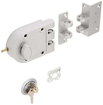 Guard Security Heavy Duty Jimmy Proof Deadbolt Door Lock, Silver, Single  Cylinder With Key