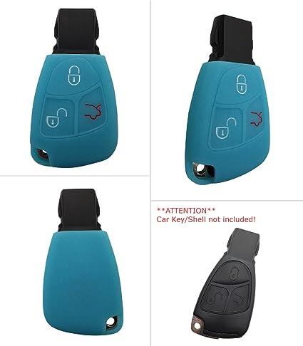 CK + Mercedes Auto de llave 3 botón Keyless Carcasa Key Cover Case Funda Silicona para ABC de S de G de v de S de R AMG CLA Clase CLS