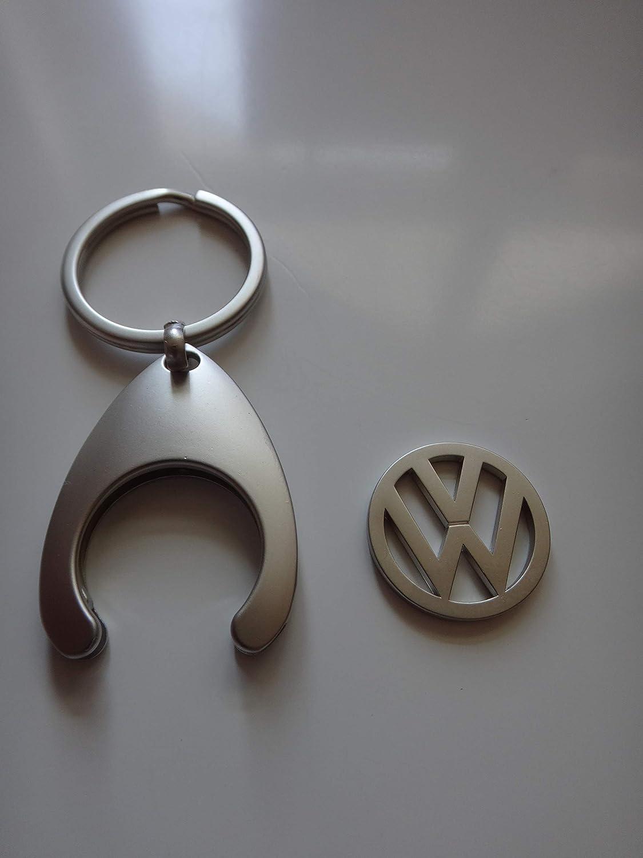 Volkswagen VW Porte-cl/és avec jeton de Courses Chrom/é