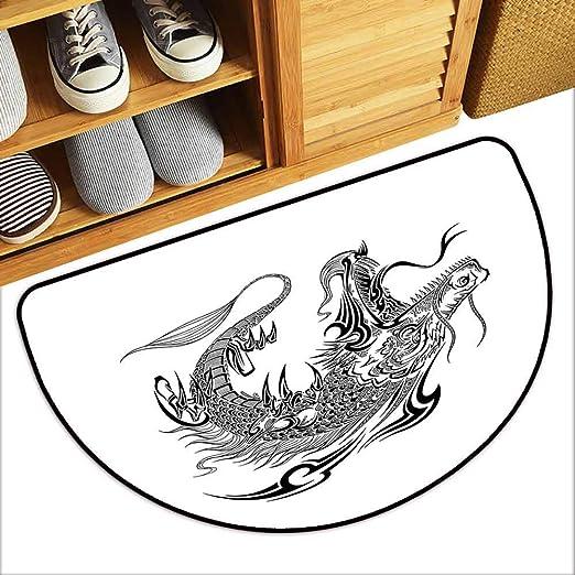 DILITECK - Felpudo para Mascotas, diseño de dragón japonés con ...