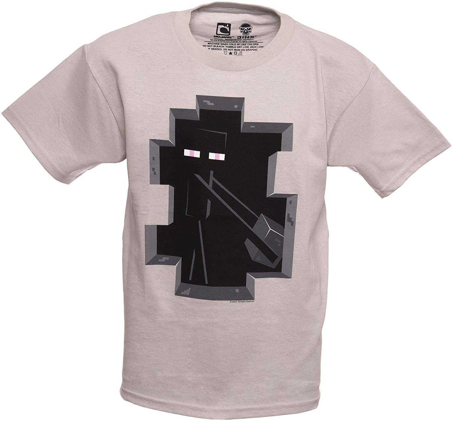 Minecraft Enderman Inside Basic T-Shirt (Youth L (34\