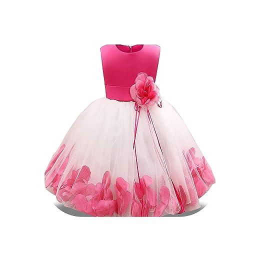 Vestido de niña de 4 a 10 años con Flores y Lazos para niñas ...
