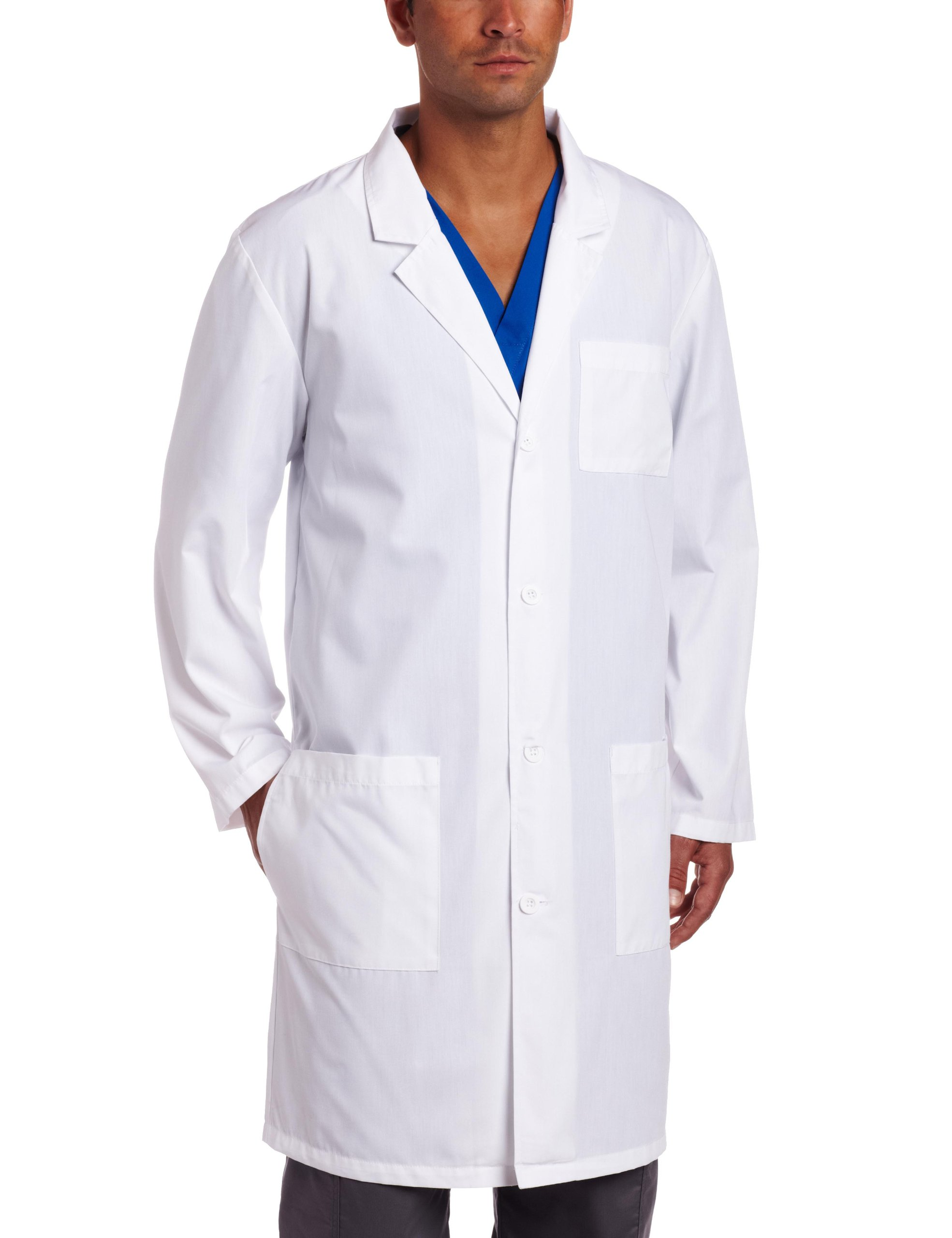 Dickies Everyday Unisex 40 Inch Lab Coat, White, Large by Dickies