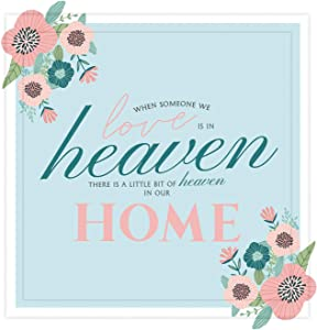 Memorial Gifts | 7X7 Tile Artwork Special for Remembrance | Sympathy Gift for Loss of Mother, Father or Child | Keepsake to Remember The Loved Ones | Ideal for Home Decor