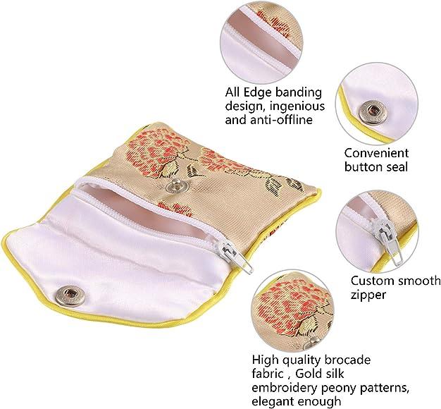 Amazon.com: Maitys 20 piezas bordado de seda bolsa de ...