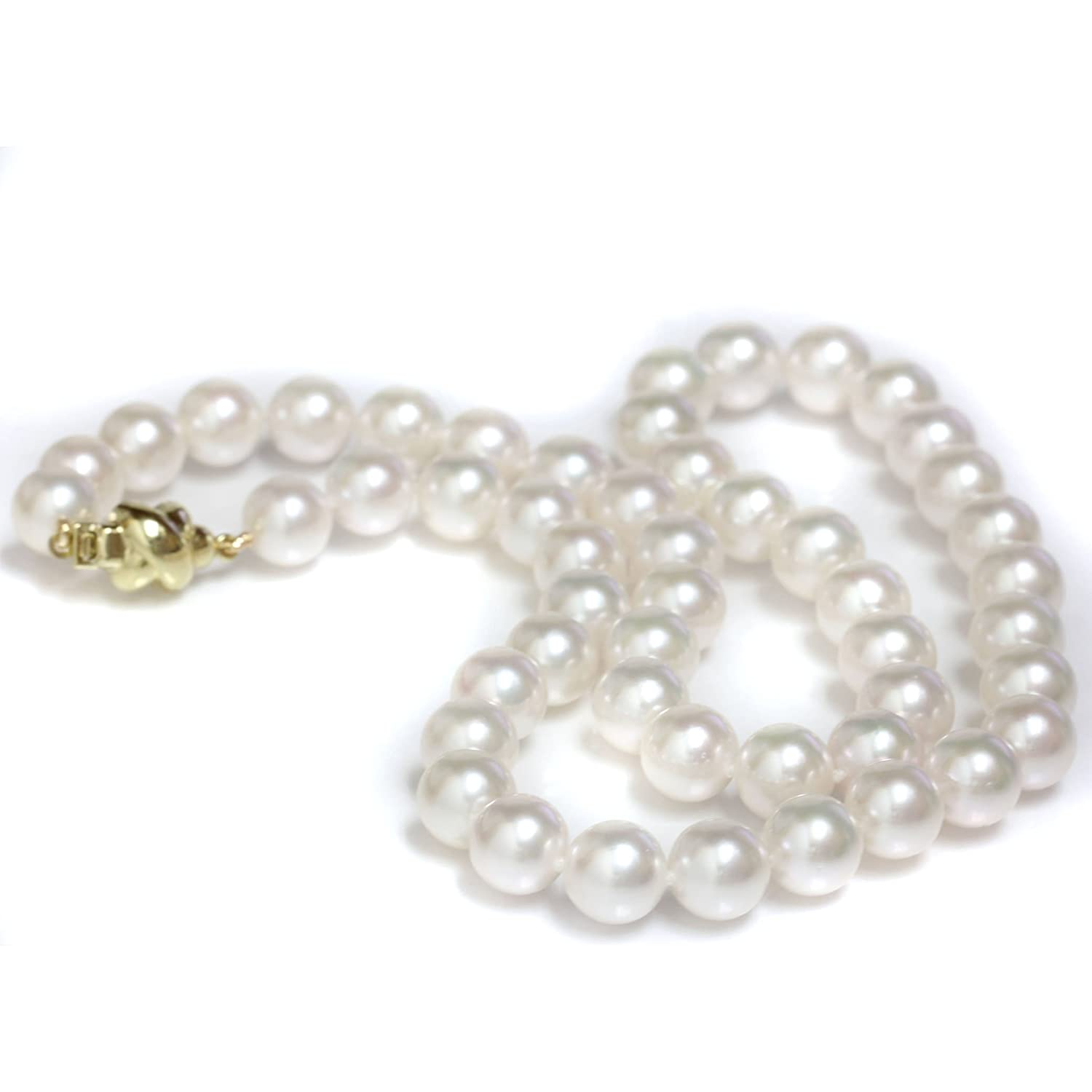 5bc091ec06302 Amazon.com: Seven Seas Pearls 14k Gold 8-8.5 mm Cultured Akoya Pearl ...
