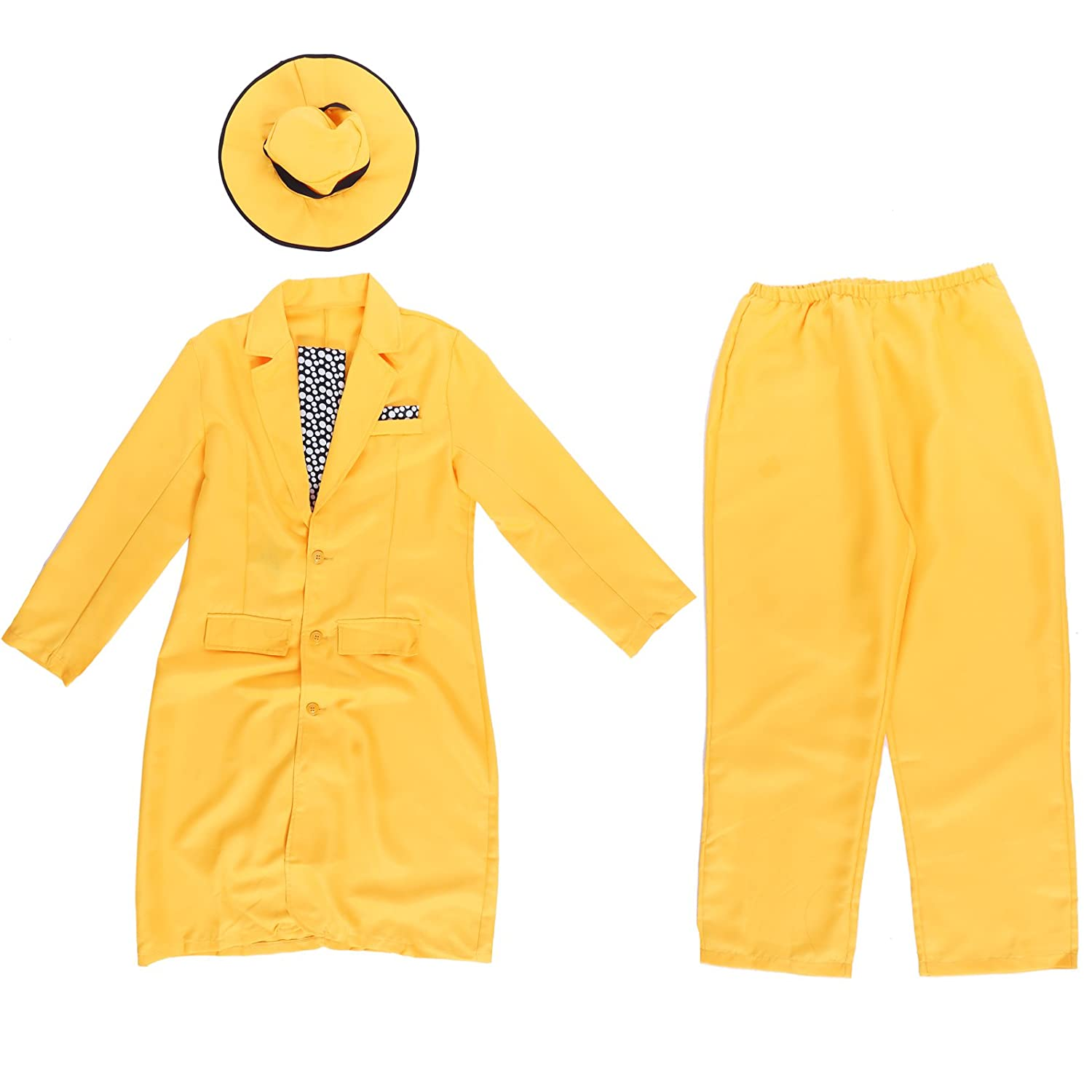 Amazon.com: 90s Yellow Gangster Zoot Suit The Mask Jim Carrey ...