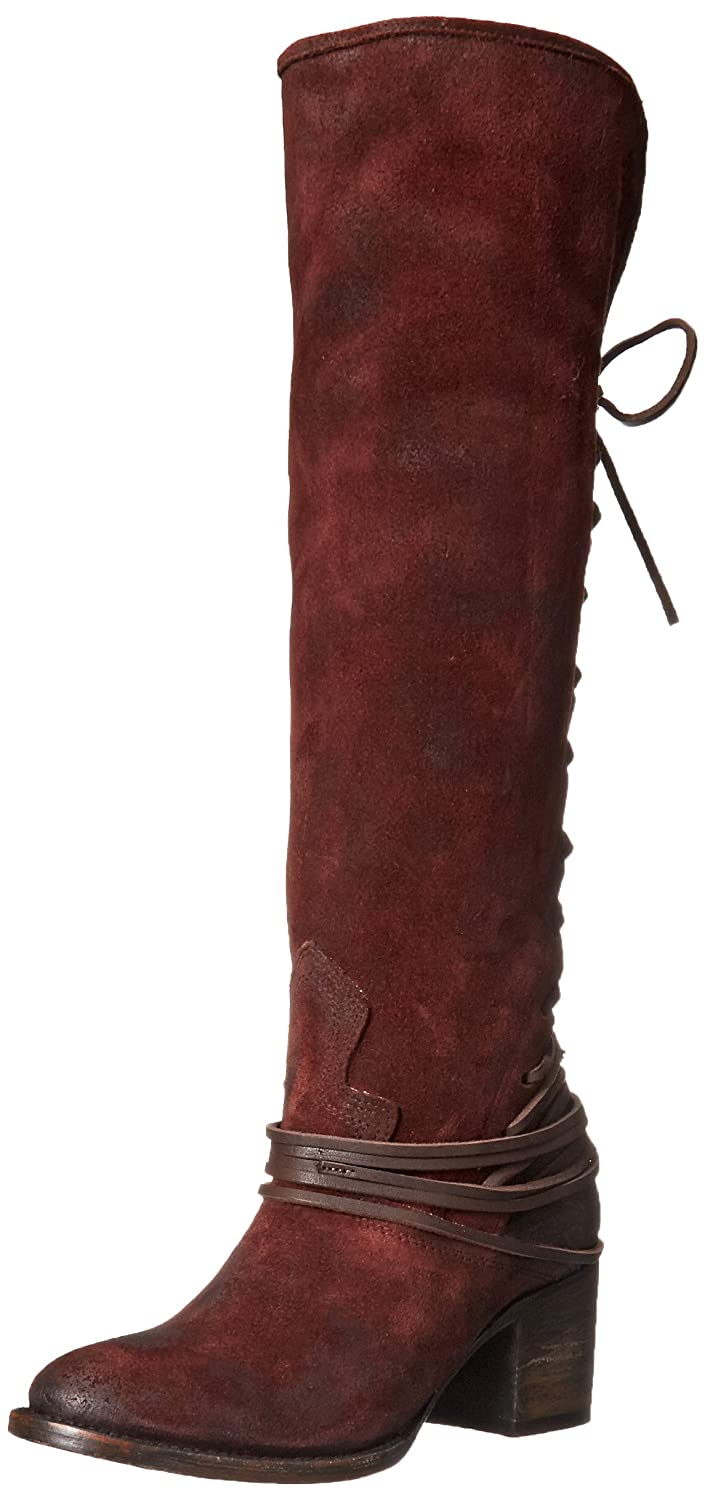 Freebird Women's Coal Riding Boot B00UUFGTFA 6 B(M) US|Wine Sued