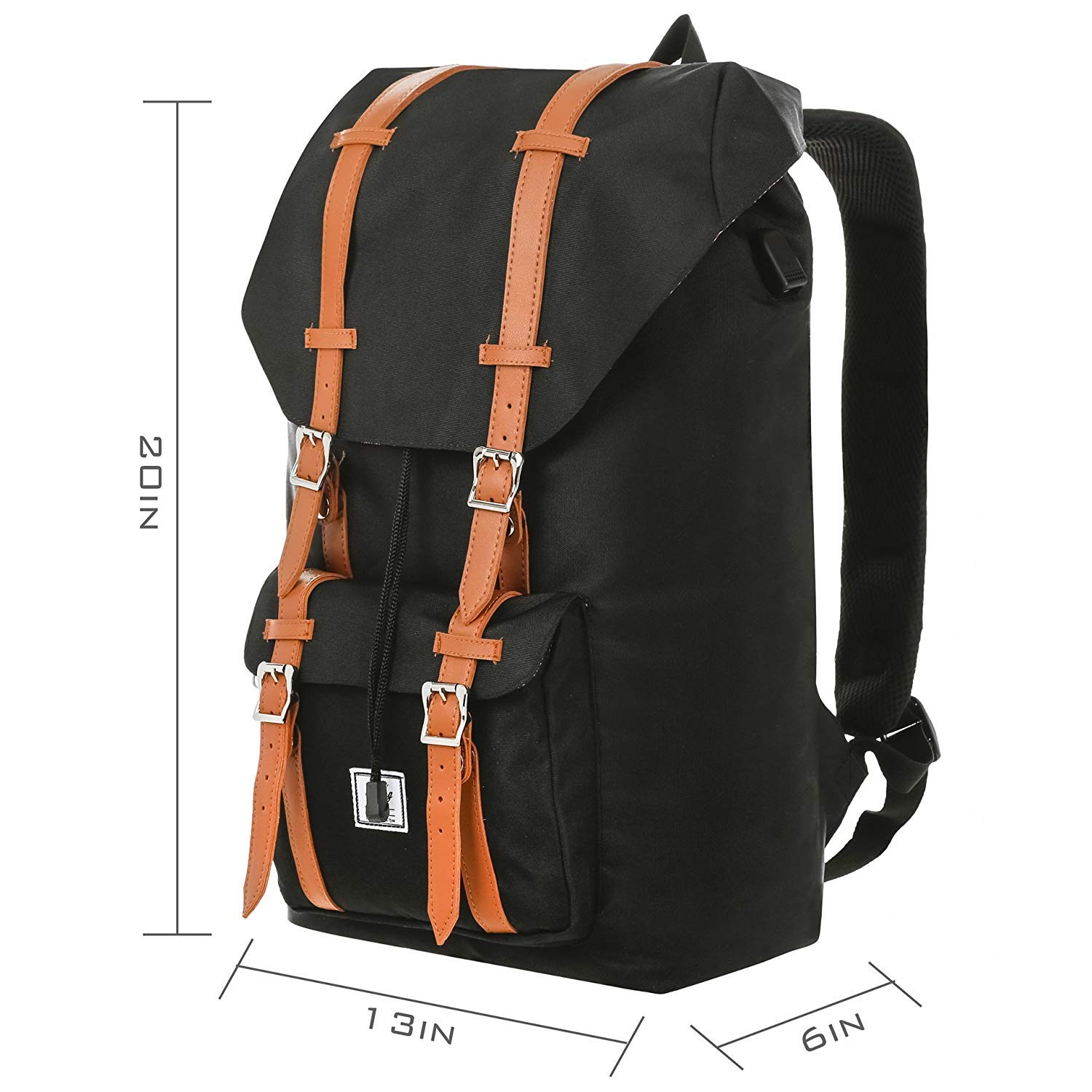 e9cd2ad8c4 Benteng Laptop Backpack, Travel Backpack Little America Style With USB  Charging Port -Every Day & Travel Gear For School | Camping | Hiking |  College ...