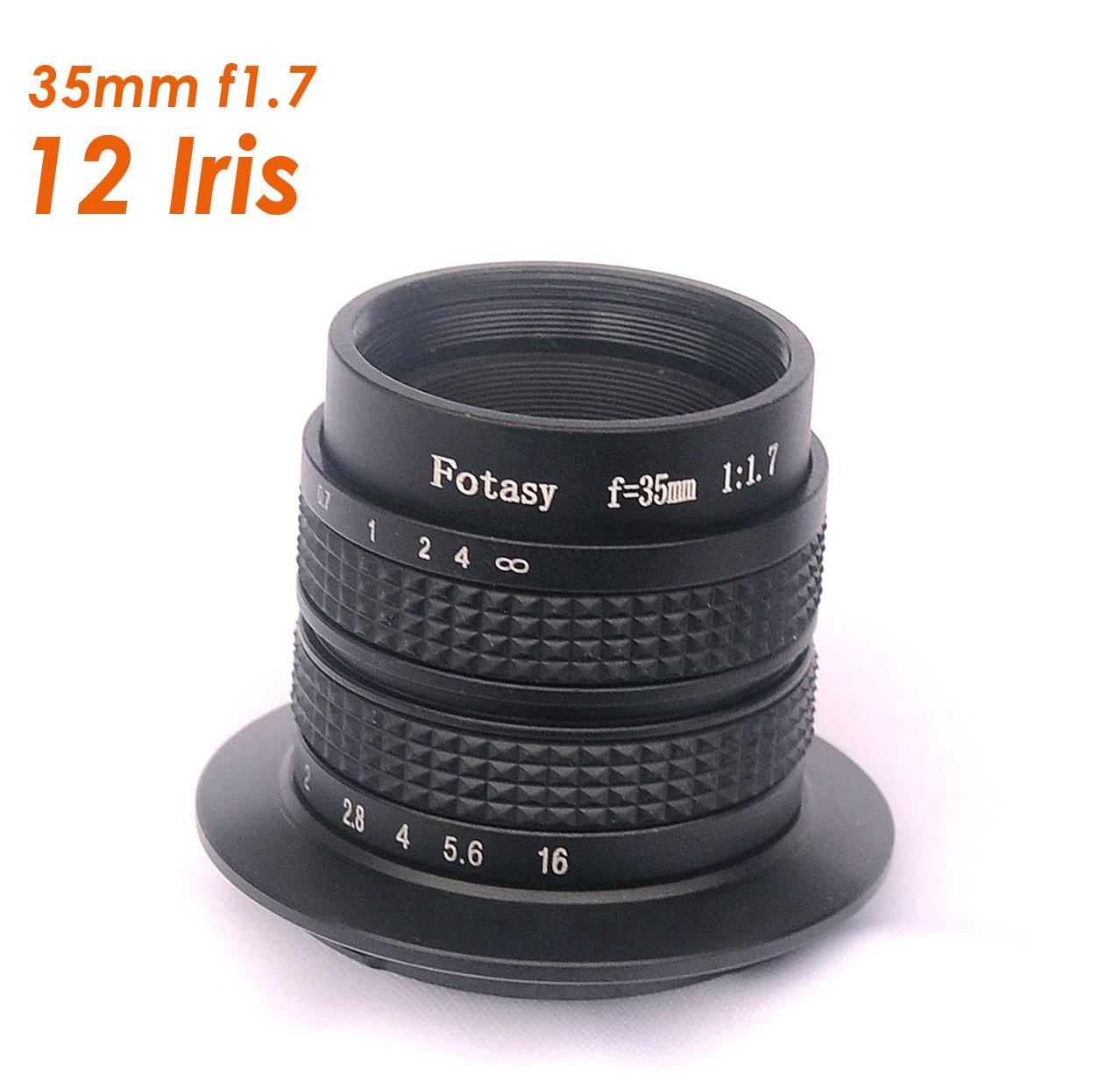 Fotasy N35 35MM F1.7 CCTV Movie Lens for Sony E-Mount NEX Mirrorless Cameras by Fotasy