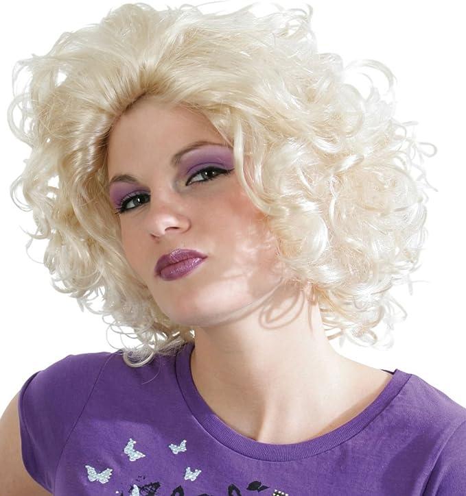 SAUVAGE Enfant Blond Bouclé Perruque madonna année 1980 Pop étoile
