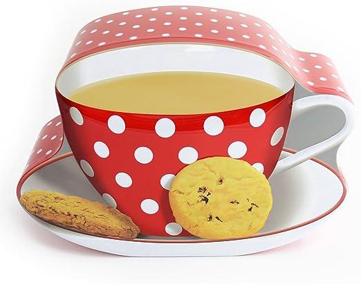 Para Hora del Té o Café kränzchen: Tea Cup Tin – Caja metálica/caja de metal //galletas Galletas Caja en forma de una taza de té: Amazon.es: Hogar