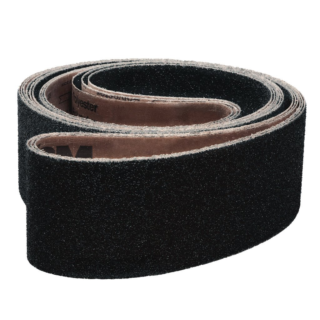VSM 213487 Abrasive Belt, Coarse Grade, Cloth Backing, Silicon Carbide, 40 Grit, 1'' Width, 42'' Length, Black (Pack of 10)