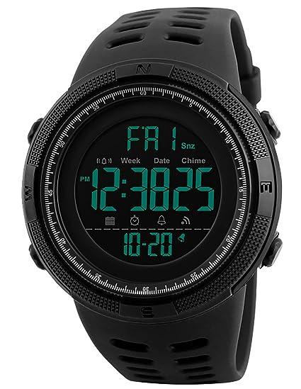 Reloj Digital Multifuncional para Hombre y Adolescente, 50 m, Resistente al Agua, electrónico