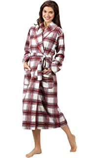ae41720bc1 PajamaGram Ladies Bathrobes Soft Fleece - Women s Plaid Robes