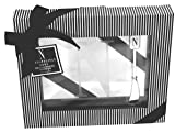 Cosmopolitan Home by Mud Pie, Monogrammed 8-Inch by 10-Inch Square Glass Cheese Tray and Matching Spreader both with Initial N