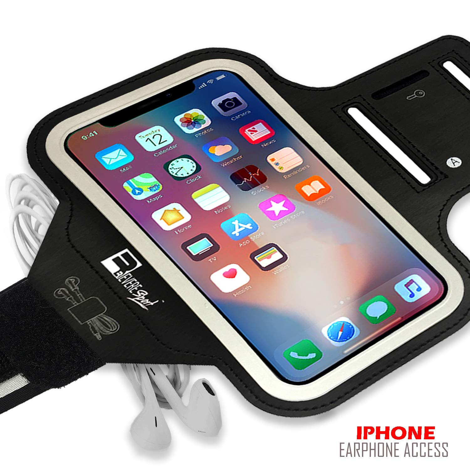Gym Workouts /& Exercise Sports Phone Case Holder for Running RevereSport iPhone XR Armband