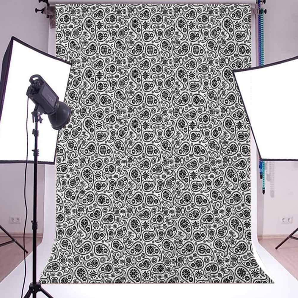 7x10 FT Letter I Vinyl Photography Background Backdrops,ABC Concept Floral with I Silhouette and Iris Flowers Spring Background for Child Baby Shower Photo Studio Prop Photobooth Photoshoot
