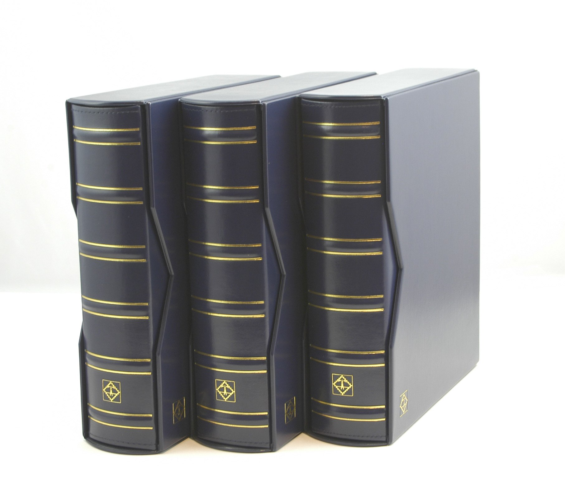 Lighthouse Vario-G Classic Binders with Slipcases, Royal Blue, Set of 3