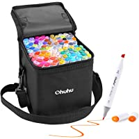 Ohuhu Alcohol Based Markers, Double Tipped Art Marker Set, Fine & Chisel Dual Coloring Markers for Kids Sketching Adults…