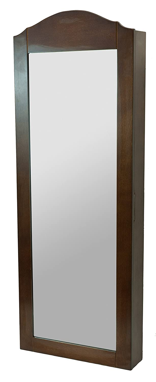 A68199 Brown Wall Mount Jewellery Cabinet Rayes Imports