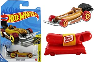Street Dog Weiner Car Bundled with Weinermobile Oscar Mayer Whistle - Fast Foodie 2 Pack