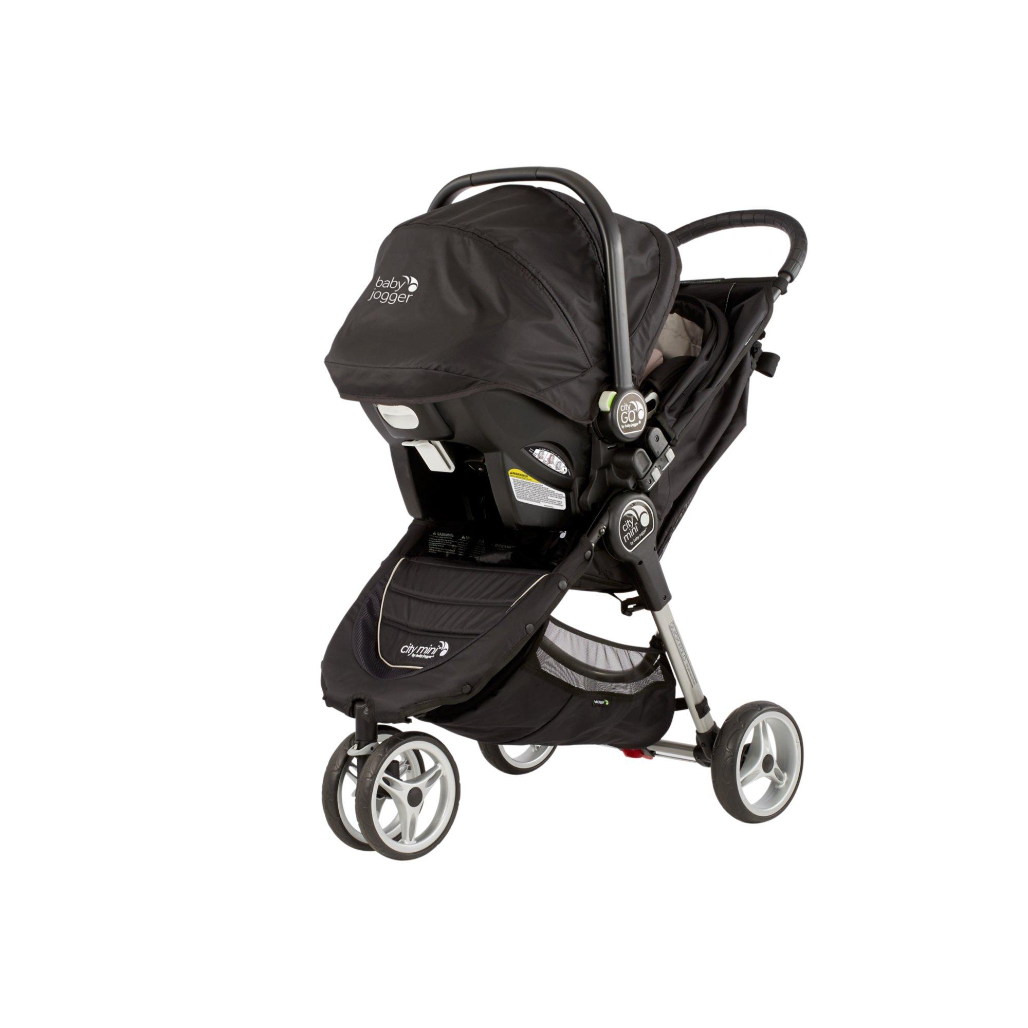 Baby Jogger City Mini Single Travel System - Black/ Gray