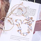 CHICTRY Fashion Beaded Eyeglass Chain Gold