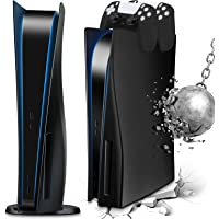 SIKEMAY Placa frontal para console PS5, capa rígida à prova de choque para Playstation 5, capa para console de jogos ABS…