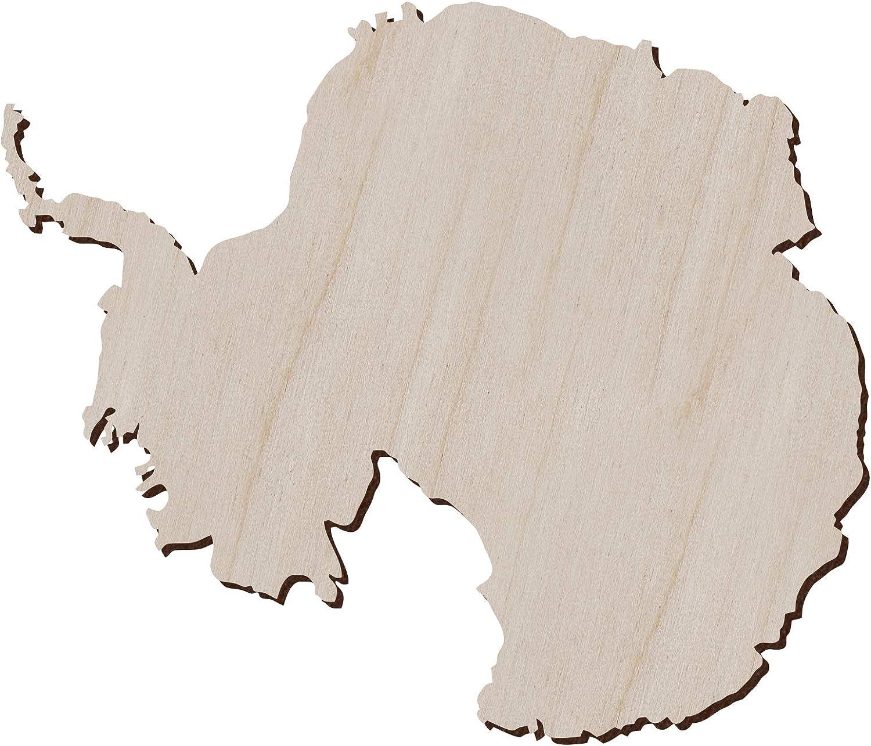 taglio laser arte antartide 5 x 4,3 pollici mappa dellAntartide Set di 10 pezzi in legno antartide a forma di continente per artigianato e decorazione mappa antartica artico