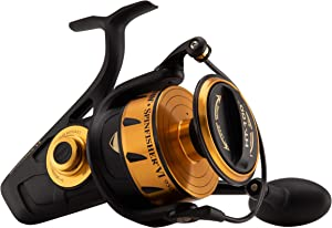 "Penn, Spinfisher VI Saltwater Spinning Reel, 9500, 4.2:1 Gear Ratio, 40"" Retrieve Rate, 6 Bearings, Ambidextrous"