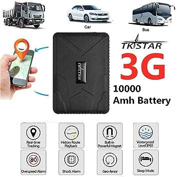 TKSTAR Hidden Vehicles 3G GPS Tracker, Waterproof Real Time Car GPS Locator Anti Theft Alarm...