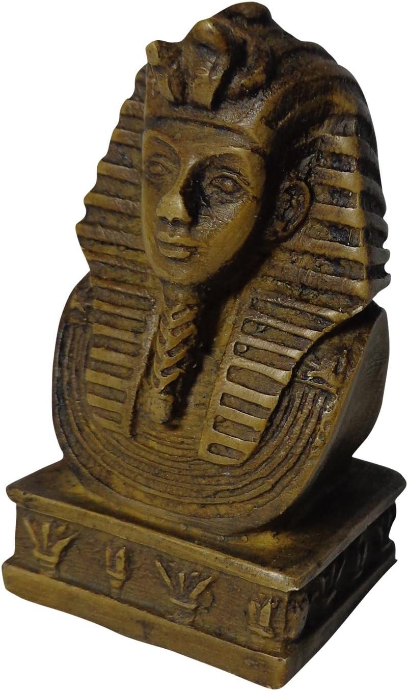 "Scarab Statue Egyptian Handmade Hieroglyphics Pharaoh 2.4/"" Paperweight 201"