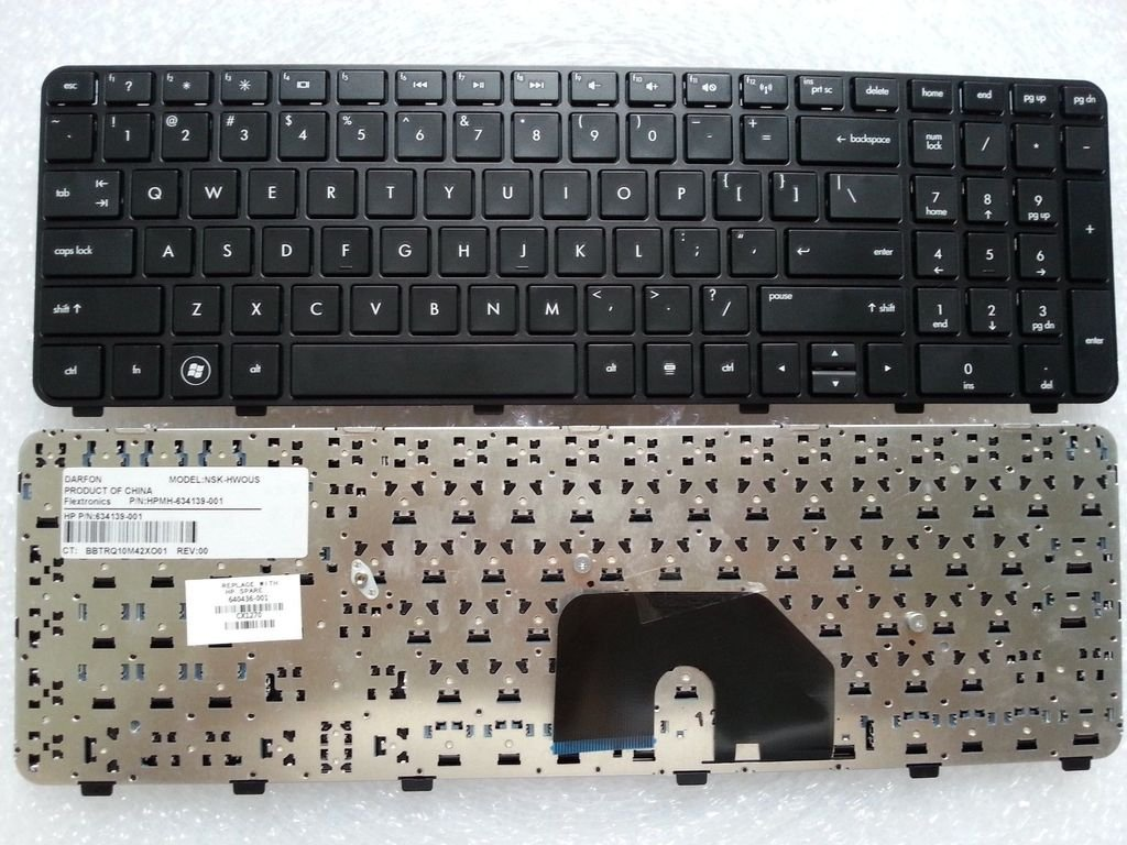 New US Laptop Keyboard Black with Frame for HP Pavilion dv6-6000 dv6-6b19wm dv6-6b21he dv6-6b22he dv6-6b26us dv6-6b27nr dv6