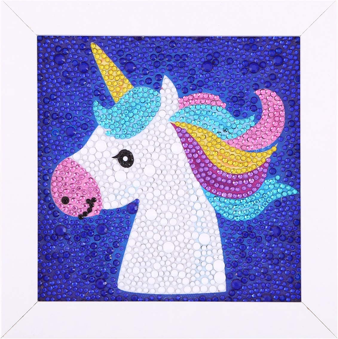 5D Crystal Diamond Painting Kits for Adults Kids and Beginners with Wooden Frame 7X9 Dream Unicorn