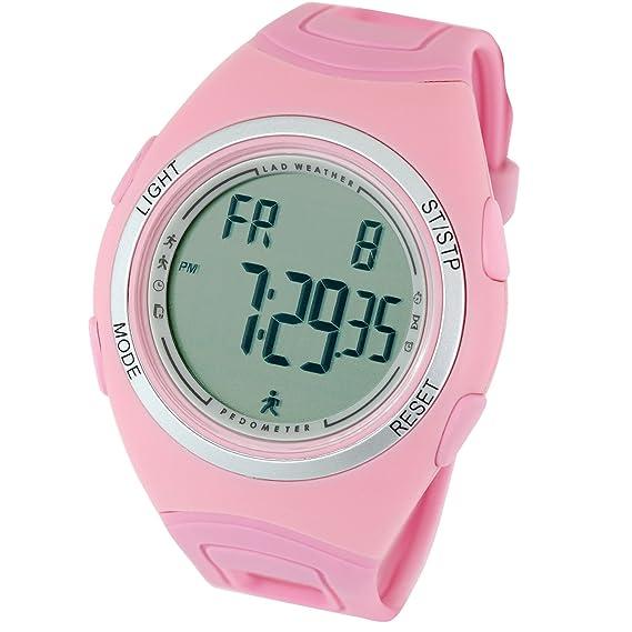 [Lad Weather] podómetro Sensor de acelerómetro 3d Alarm cronómetro ejercicio Jogging marca hombre deportivo