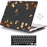 iCasso MacBook Air 13 inch Case (Release 2010-2017 Older Version), Plastic Pattern Hard Shell Protective Case & Keyboard…