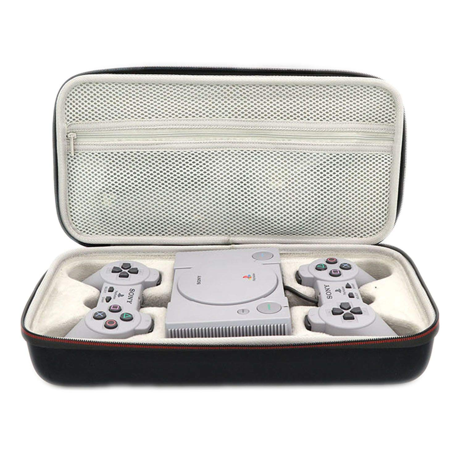 Carrying Storage Perfect Protection Case for Sony Playstation Classic Mini Console,2 Controllers and Other Accessories