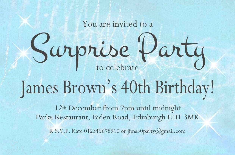 12 Handmade Personalised Birthday Invitations 18th 21st 30th 40th 50th 60th 70th