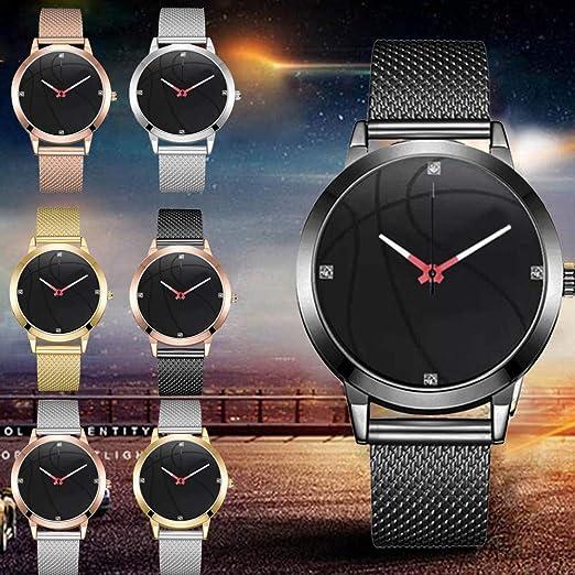 JiaMeng Auténtico Suizo Reloj Analógico De Acero Inoxidable de Negocios de Ocio patrón de Baloncesto Dial Mesh Belt Reloj(A): Amazon.es: Ropa y accesorios