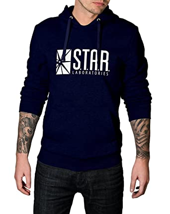 d9e1877e2b6 Decrum Star Graphic Navy Pullover Hoodie at Amazon Men's Clothing store