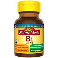 Nature Made Vitamin B1 100 mg Tablets, 100 Count for Metabolic Health† (Packaging...