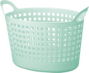"Like-It SCB-8 Portable Oval Basket, 21.06"" x 12.99"" x 14.37"", Mint Blue"