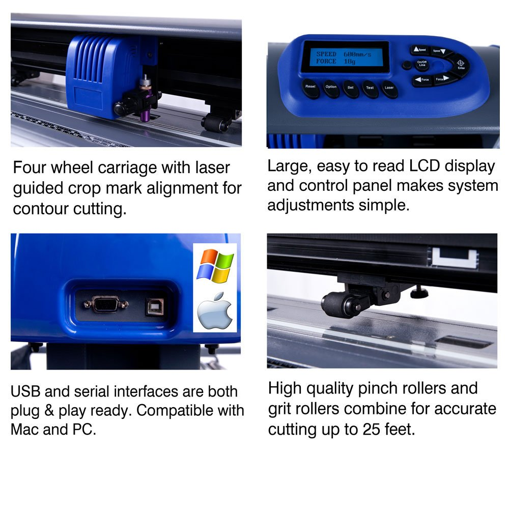 USCutter 28-inch Titan 2 Vinyl Cutter/Plotter with Stand, Basket and Design and Cut Software by USCutter (Image #2)