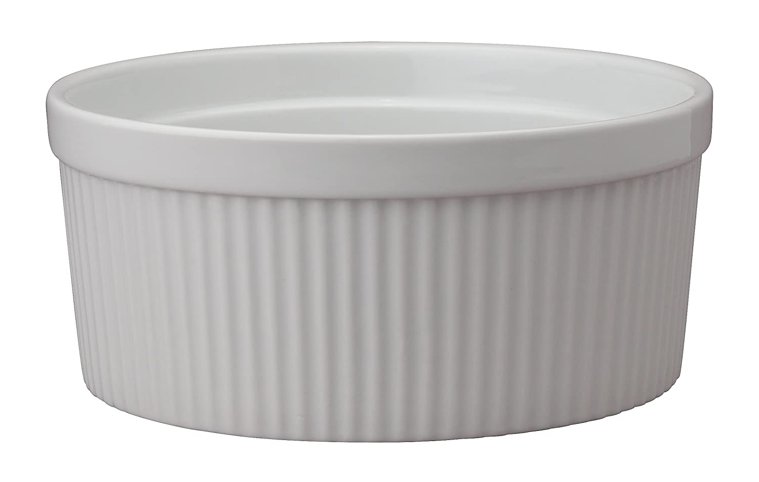 HIC Harold Import Co. 98012 Souffle, Fine White Porcelain, 8-Inch, 64-Ounce