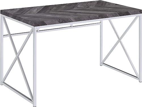 Coaster Home Furnishings Grimma Rustic Grey Herringbone Writing Desk