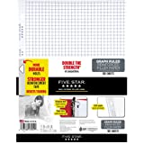 "Five Star Loose Leaf Paper, 3 Hole Punched, Reinforced Filler Paper, Graph Ruled, 11"" x 8-1/2"", 100 Sheets/Pack (17012)"