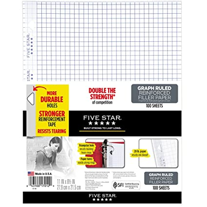 amazon com five star loose leaf paper 3 hole punched reinforced