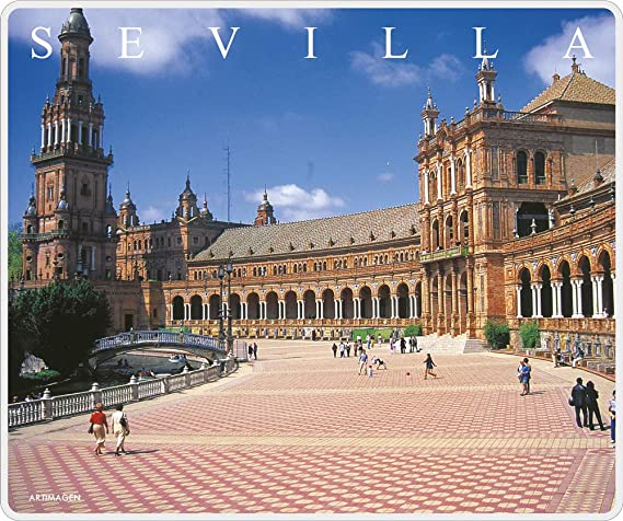 Artimagen Alfombrilla, Mouse Pad Plaza España Sevilla 245x205 mm ...