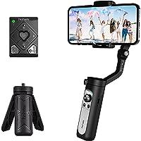 Estabilizador Móvil - Hohem iSteady X2 Control Remoto Gimbal para iPhone/Samsung/Huawei, Telemando Más fácil de Usar…